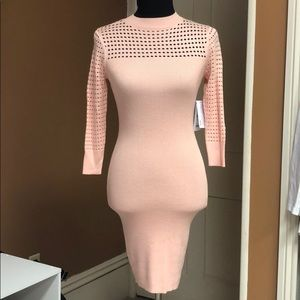 Geuss pale pink dress